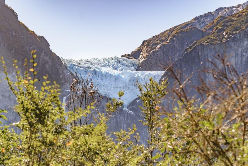 Queulat bergglaciär, Patagonia, Chile arkivfoto