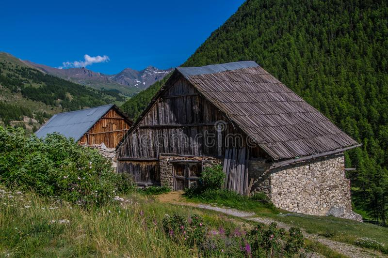 Riaille ceillac queyras in hautes alpes in france royalty free stock photo
