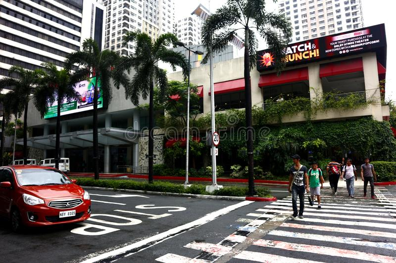 Buildings and other residential and commercial establishments inside the Araneta Center. QUEZON CITY, PHILIPPINES – AUGUST 24, 2019: Buildings and other royalty free stock images