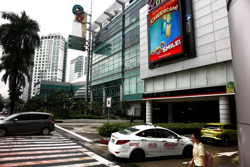 Buildings and other residential and commercial establishments inside the Araneta Center. QUEZON CITY, PHILIPPINES – AUGUST 24, 2019: Buildings and other stock photos