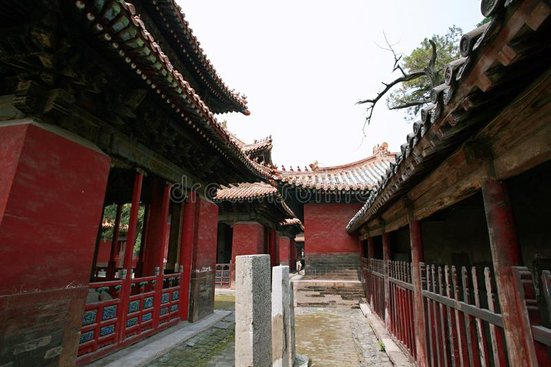 Qufu & x22;three holes& x22;. Qufu Confucian Temple, located 300 meters west of Drum Tower in central Qufu, is a memorial temple for Confucius, a famous thinker royalty free stock image