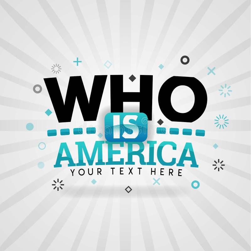 Quién es un logotipo y una cubierta americanos para las recetas de la comida del hogar de los E.E.U.U. libre illustration