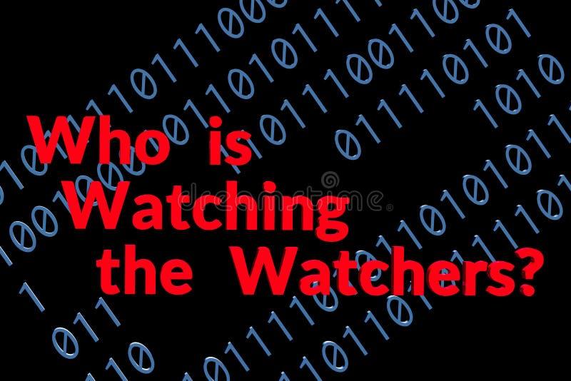 Quién está mirando a los vigilantes en negro foto de archivo libre de regalías