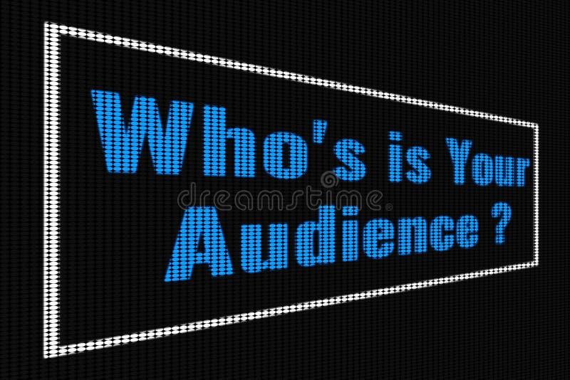 Quién IS-IS su texto azul de la audiencia en la pantalla oscura imagenes de archivo