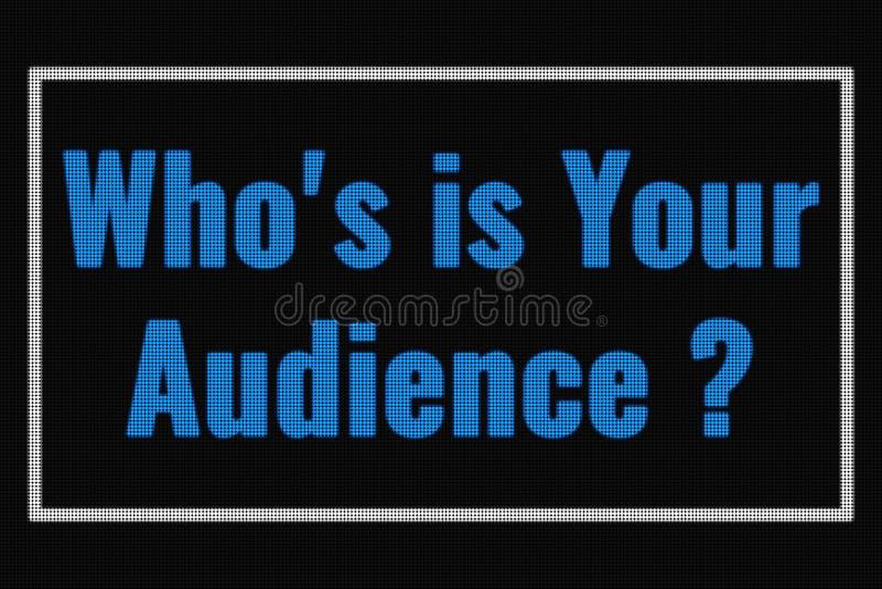 Quién IS-IS su texto de la audiencia en la pantalla oscura fotografía de archivo
