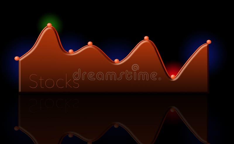 Qui è un grafico moderno del mercato azionario, grafico royalty illustrazione gratis