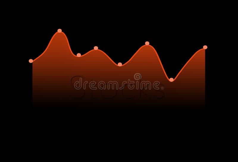 Qui è un grafico moderno del mercato azionario, grafico illustrazione vettoriale