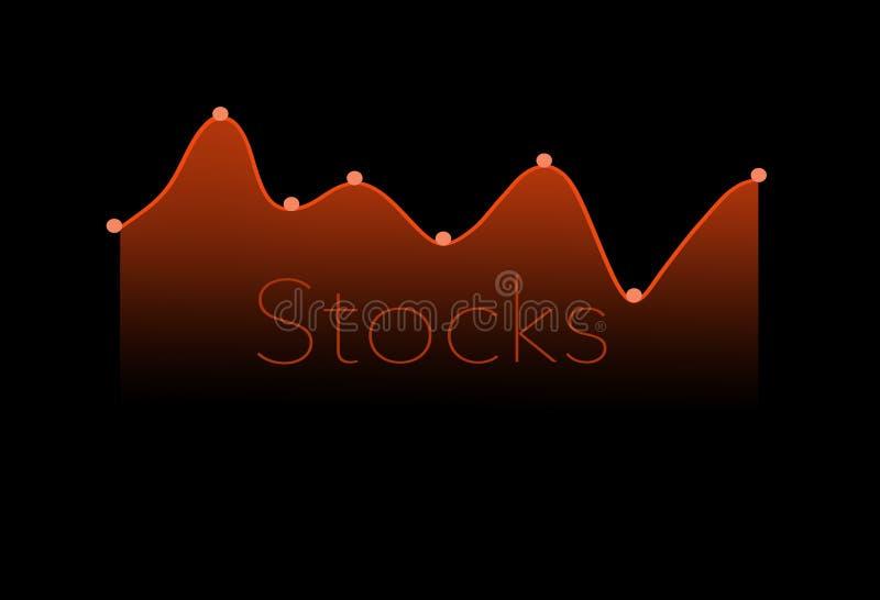 Qui è un grafico moderno del mercato azionario, grafico illustrazione di stock