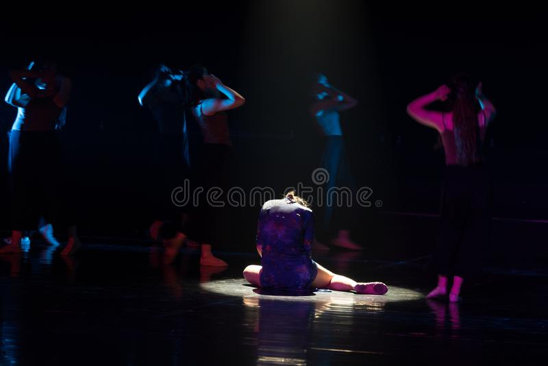 Qui est le vendeur 2--Âne de drame de danse obtenir l'eau image libre de droits