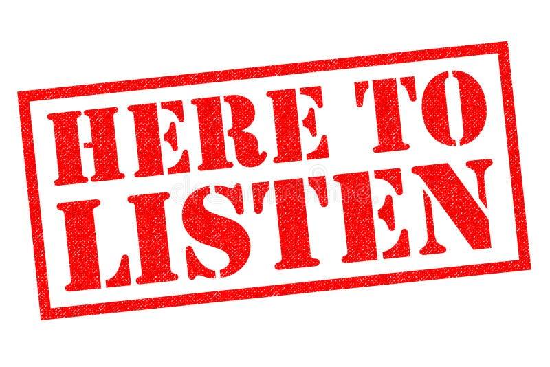 Qui per ascoltare royalty illustrazione gratis