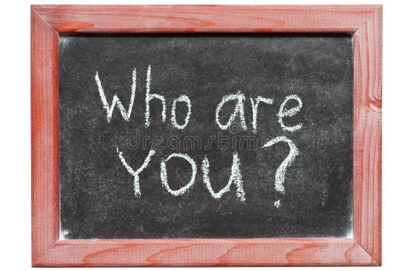 Qui sont vous image stock