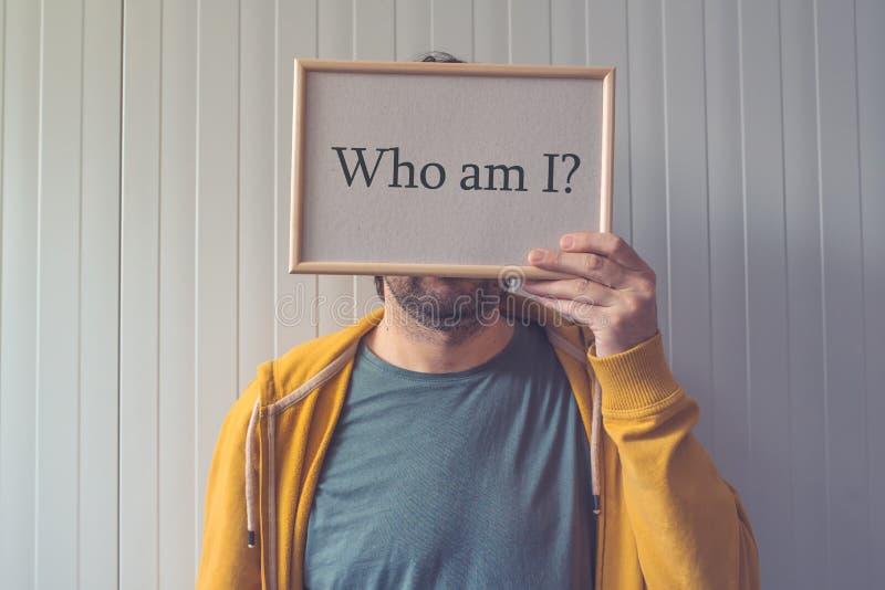 Qui suis moi, concept de connaissance de soi photographie stock libre de droits