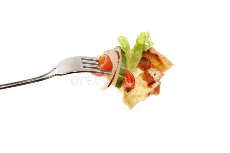 Quiche и салат стоковое изображение