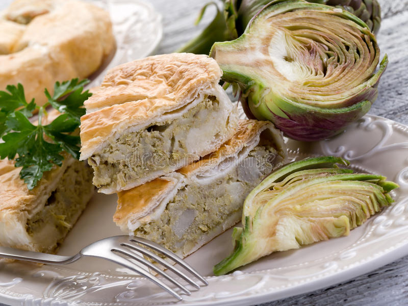 Quiche With Artichoke Royalty Free Stock Photo