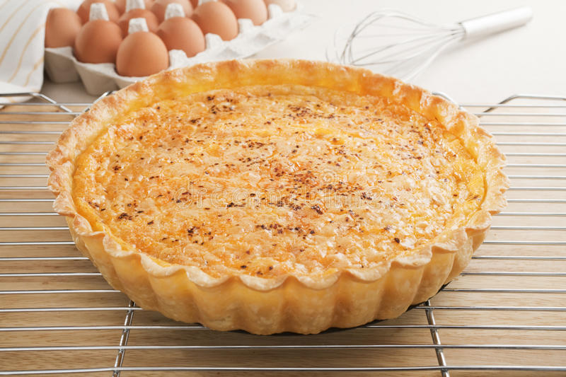 Quiche On A Cooling Rack Royalty Free Stock Image