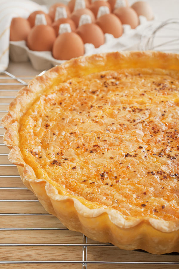 Quiche On A Cooling Rack Stock Image