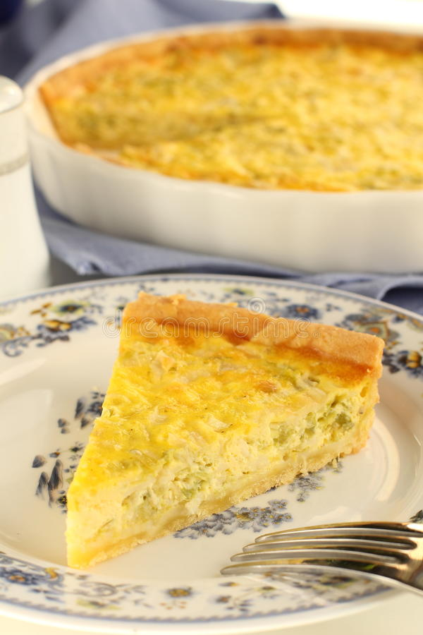 Quiche de secteur. photo stock