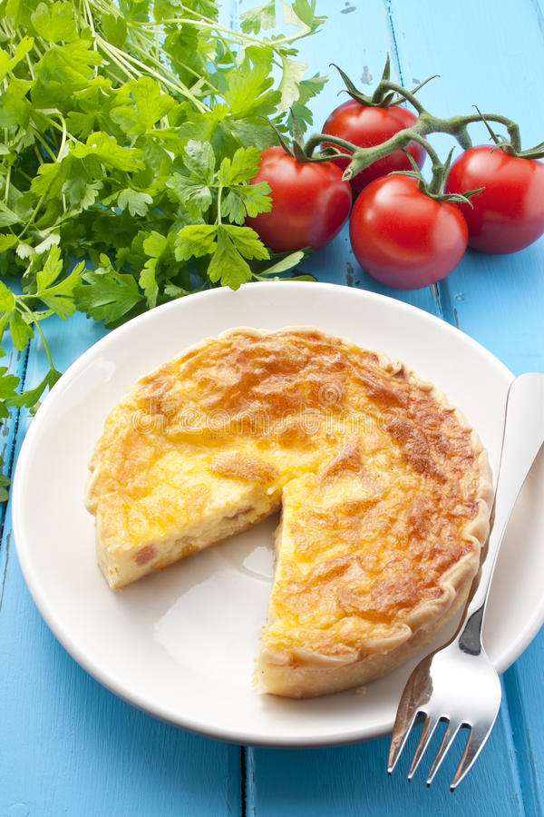 Quiche Food stock image