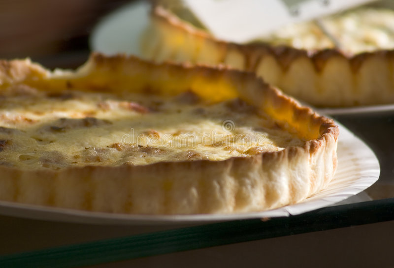 Quiche Loraine - cheese cake royalty free stock photography