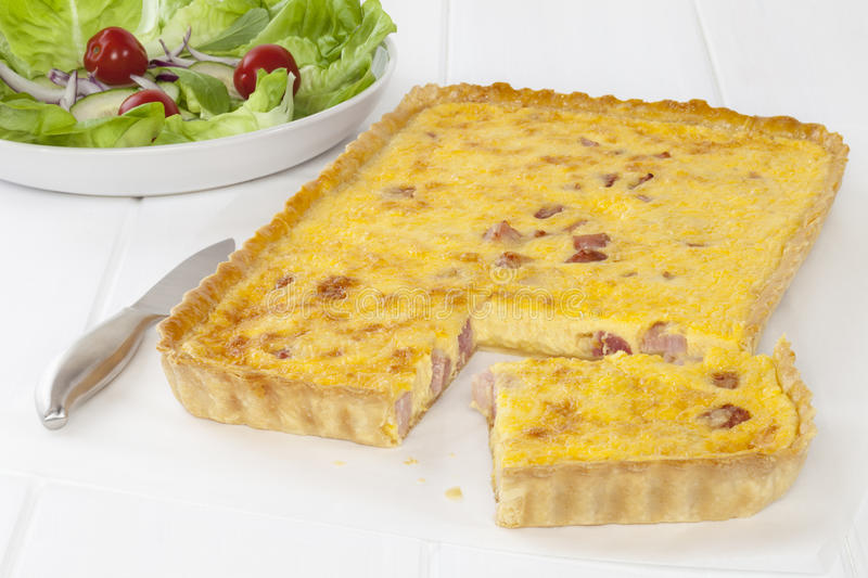Download Quiche Lorraine stock photo. Image of horizontal, bacon - 25245970
