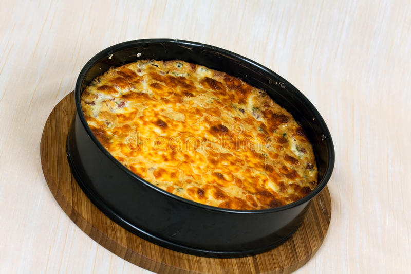 Download Quiche Lorraine On The Cutting Board Stock Photo - Image: 12465218