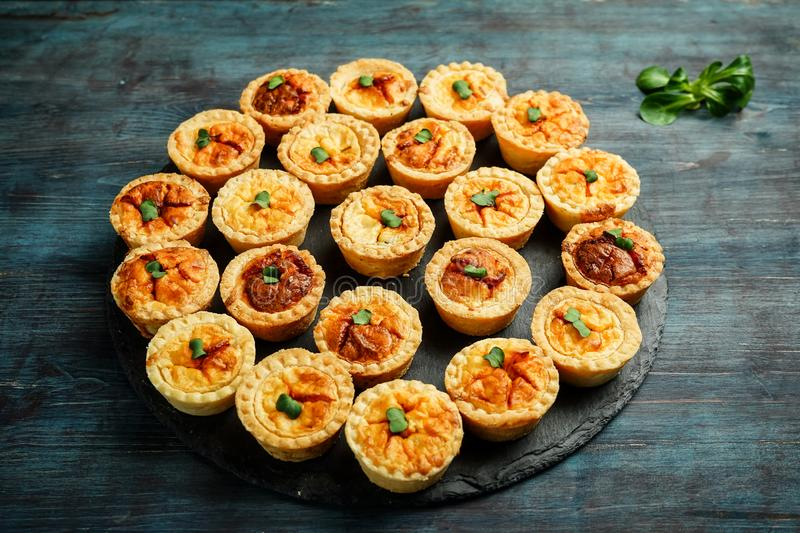 Quiche mini tarts fotografia royalty free