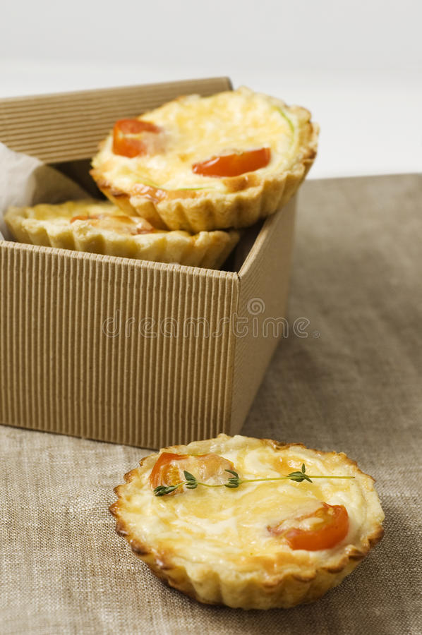 Quiche saboroso foto de stock royalty free