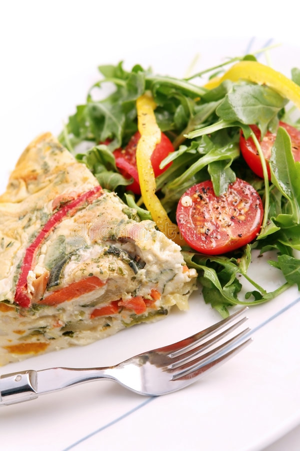 Download Quiche And Salad Royalty Free Stock Image - Image: 2215936