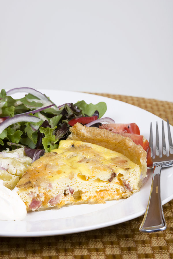 Download Quiche and salad stock image. Image of eating, epicurean - 4922021