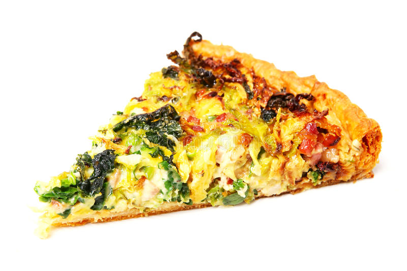 Quiche slice royalty free stock images