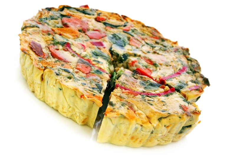 Quiche vegetal foto de stock