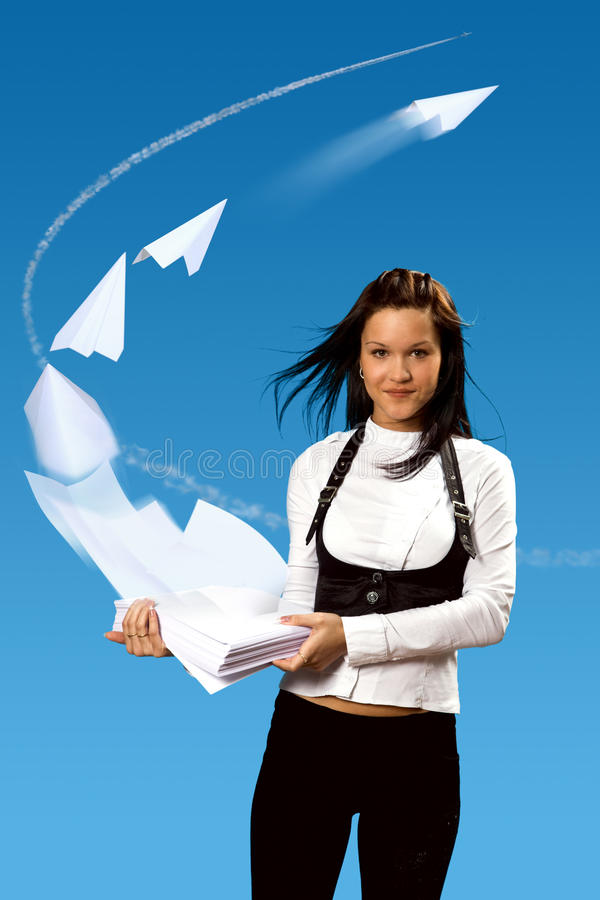 Quick air messages stock photo