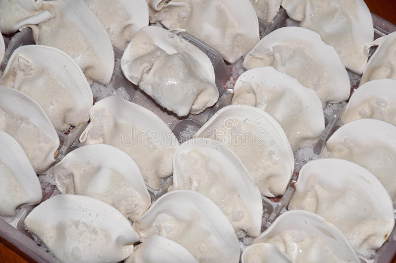 Quick frozen dumplings royalty free stock images