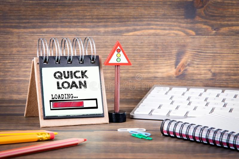 Quick loan concept. fast money providence, business and finance services stock image