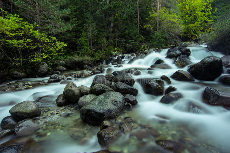 Quick Mountain River stock photography