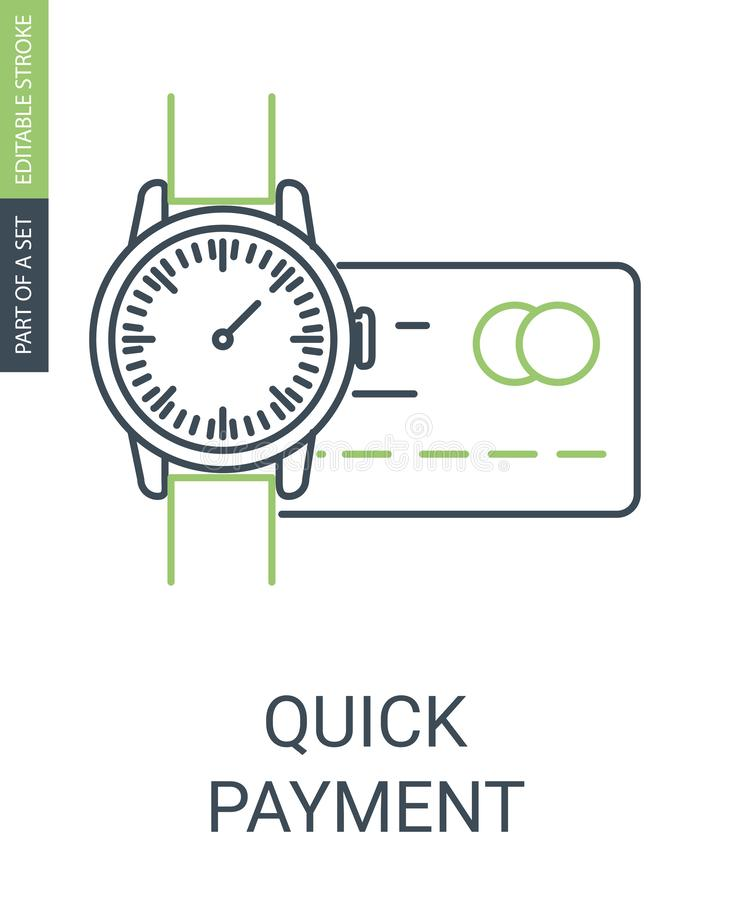Quick payment icon vector illustration