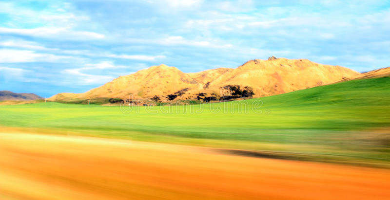 Quick Terrain. Queenstown Road - South Island New Zealand royalty free stock image