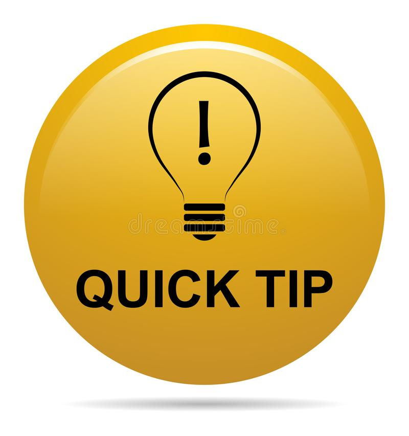 Free Quick Tip Golden Yellow Button Help And Suggestion Concept Stock Images - 118511404