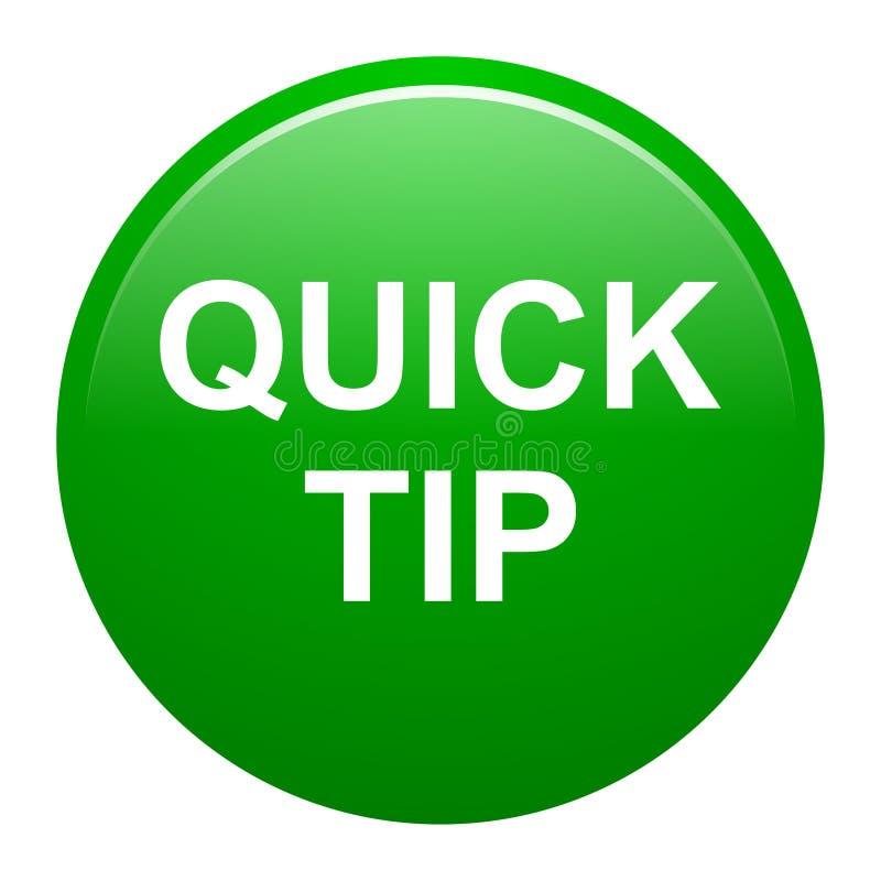 Quick Tips (bulb Icon) Elegant Green Round Button Stock