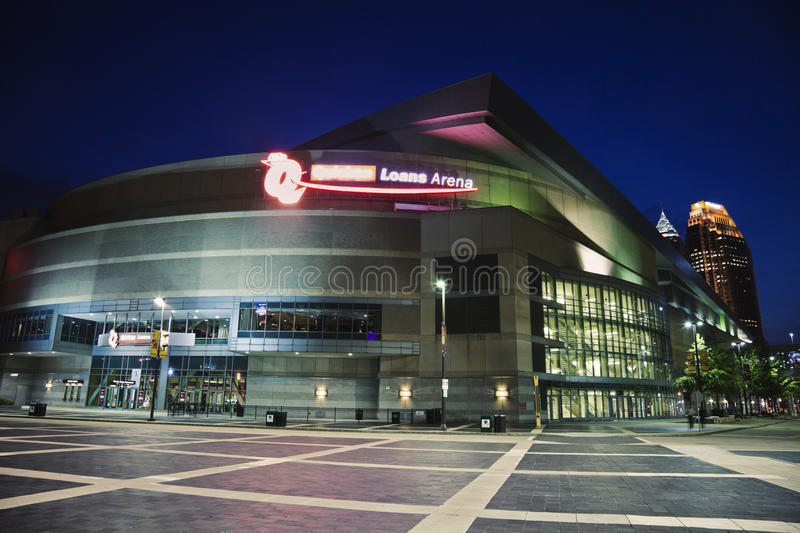 Quicken Loans Arena. In the center of Cleveland