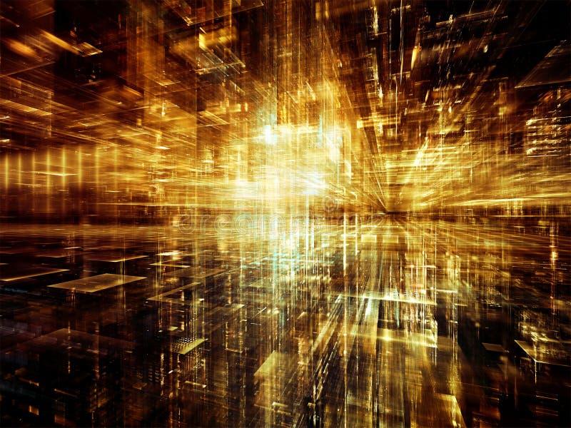 Quickening Cyfrowego świat ilustracja wektor
