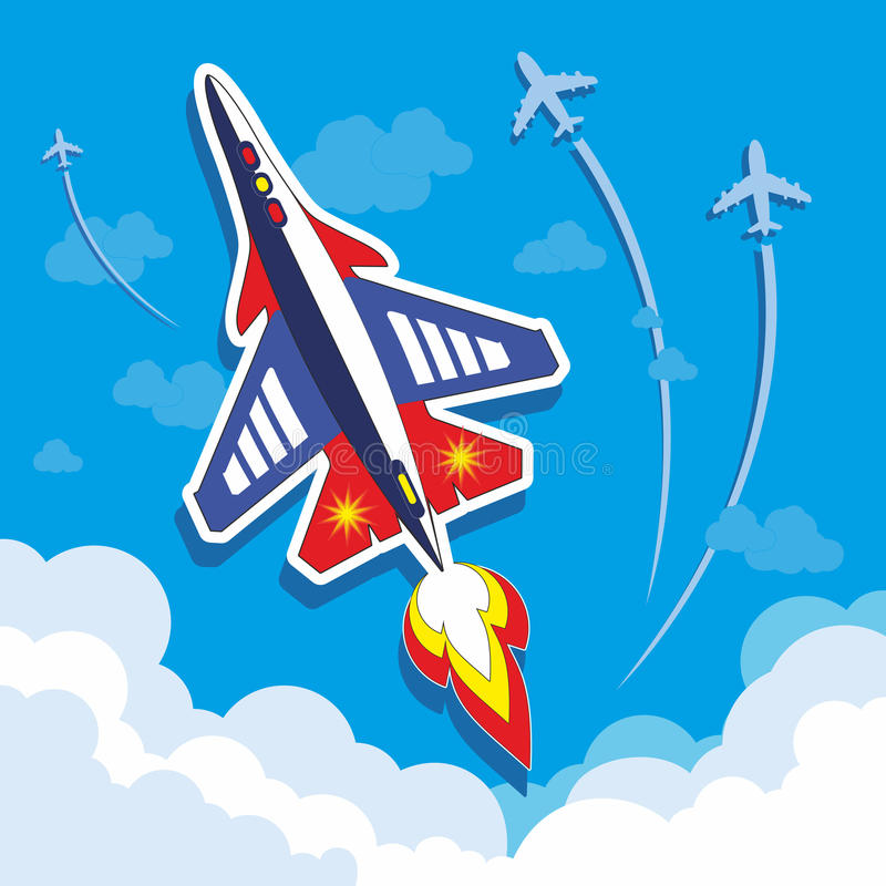 Quickly plane in the sky royalty free stock photography