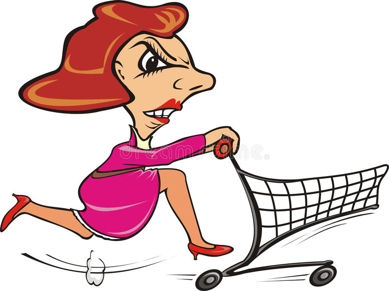 quickly shopper go shopping stock vector illustration of shopper