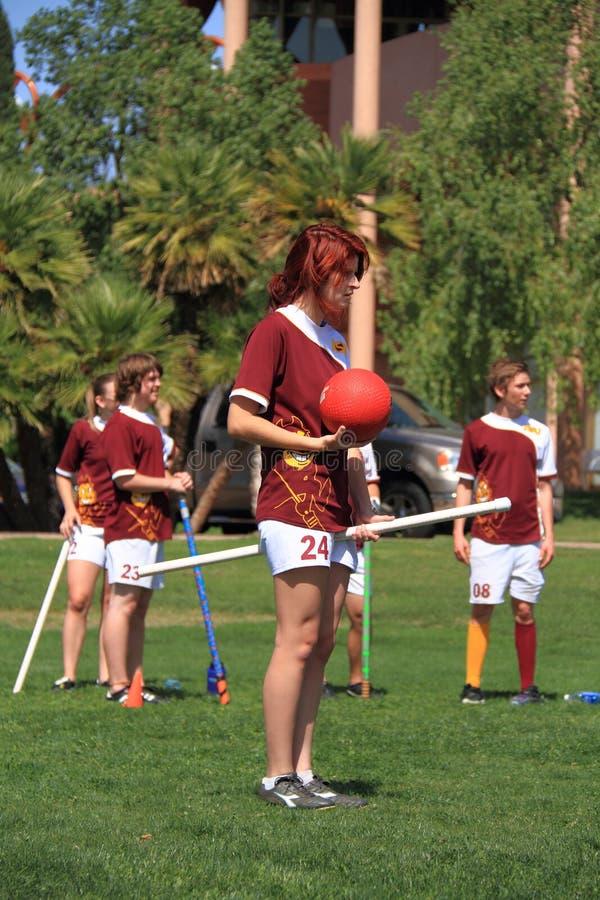 Quidditch: Łowca trzyma piłkę   zdjęcie stock