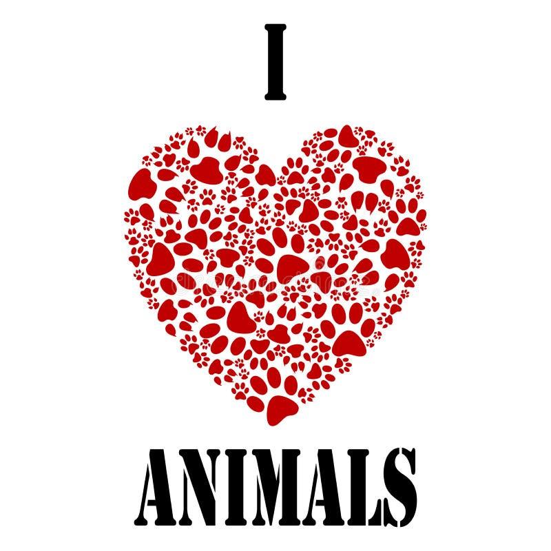 Quiero animales ilustración del vector