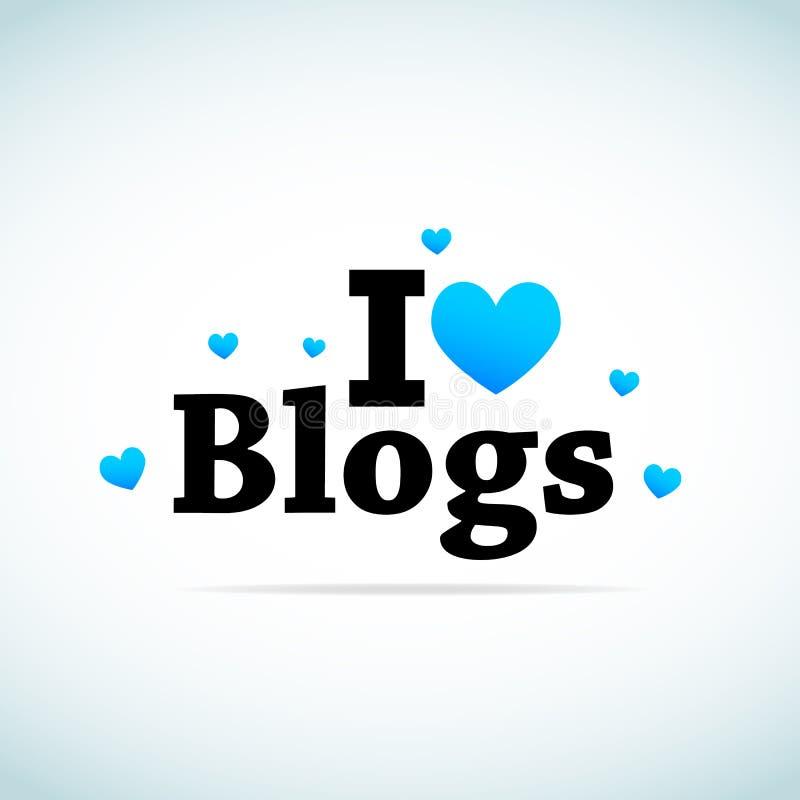 Quiero blogs ilustración del vector