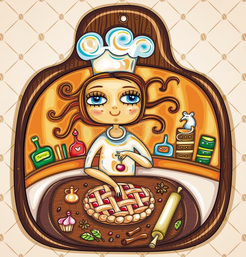 Quiero el cocinar stock de ilustración
