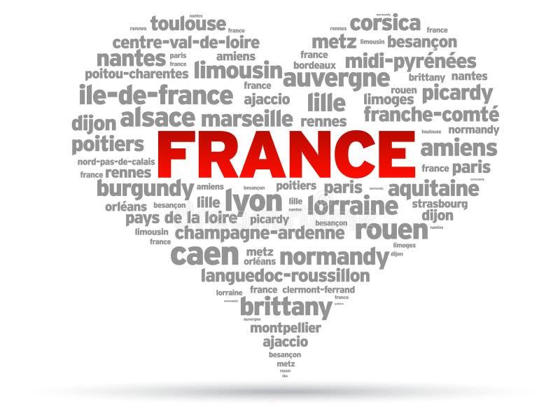 Quiero Francia ilustración del vector