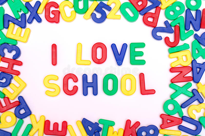 Quiero la escuela fotos de archivo