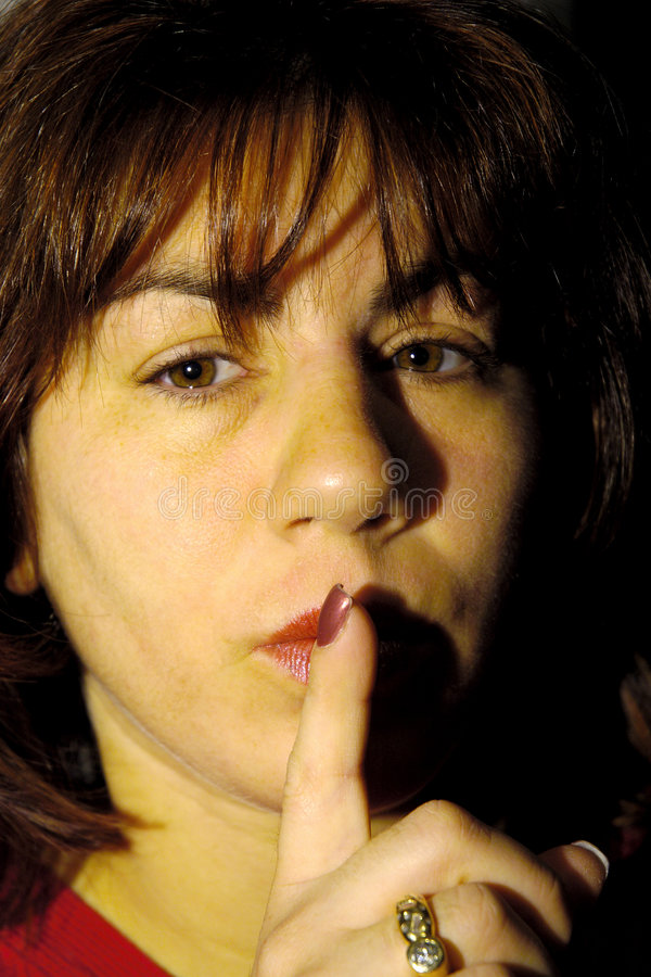 Download Quiet stock photo. Image of female, face, thinking, gesture - 65662